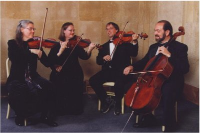 A photo of the Arcos/iris String Quartet