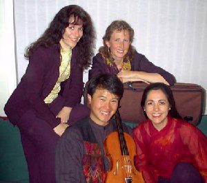 A photo of the Del Sol String Quartet