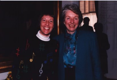 A photo of Gwyneth Walker and Madeleine Kunin
