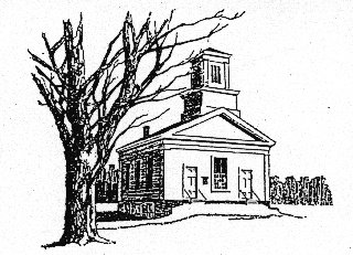 A photo of the Braintree Meetinghouse
