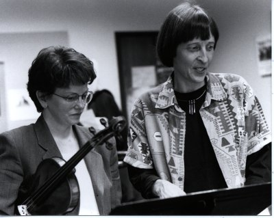 A photo of Susan Pickett and Gwyneth Walker